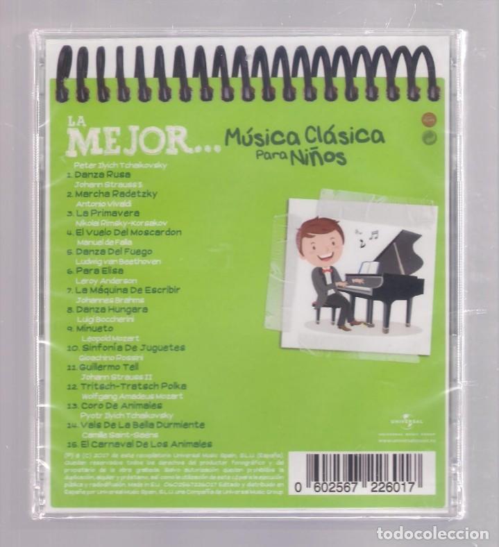 CDs de Música: LA MEJOR MÚSICA CLÁSICA PARA NIÑOS (CD infantil + lápìz de color + 8 págs. pasatiempos) PRECINTADO - Foto 2 - 140744006