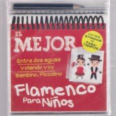 CDs de Música: EL MEJOR FLAMENCO PARA NIÑOS (CD INFANTIL + LÁPÌZ DE COLOR + 8 PÁGS. PASATIEMPOS) PRECINTADO. Lote 140744690