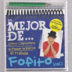 CDs de Música: LO MEJOR DE FOFITO VOL.1 (CD INFANTIL + LÁPÌZ DE COLOR + 8 PÁGS. PASATIEMPOS) PRECINTADO. Lote 140745010
