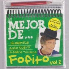 CDs de Música: LO MEJOR DE FOFITO VOL.2 (CD INFANTIL + LÁPÌZ DE COLOR + 8 PÁGS. PASATIEMPOS) PRECINTADO. Lote 140745302