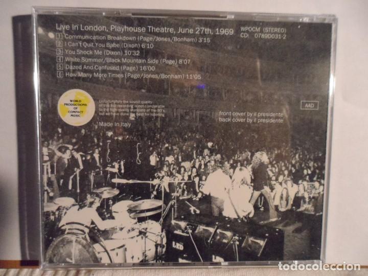 CDs de Música: LED ZEPPELIN - LONDON BROADCAST LIVE LONDON 1969 - Foto 3 - 140773830