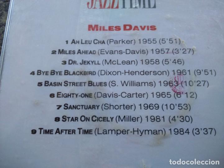 CDs de Música: CD -- DAVIS MILES -- JAZZ TIME -- 9 TEMAS -- NUEVO -- - Foto 2 - 140858930