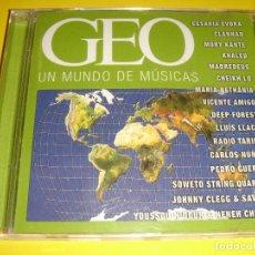 CDs de Música: GEO / UN MUNDO DE MÚSICAS / REVISTA GEO / CD. Lote 140888954