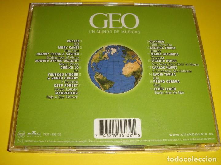 CDs de Música: GEO / UN MUNDO DE MÚSICAS / REVISTA GEO / CD - Foto 2 - 140888954
