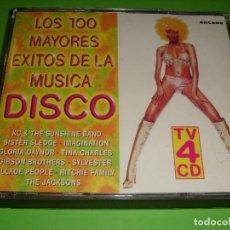 CDs de Música: LOS 100 MAYORES ÉXITOS DE LA MÚSICA DISCO / ARCADE / 4 CD. Lote 140897822