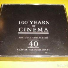 CDs de Música: 100 YEARS OF CINEMA / 100 AÑOS DE CINE / CANCIONES DE ACTORES / 40 TEMAS / 2 CD. Lote 140975254