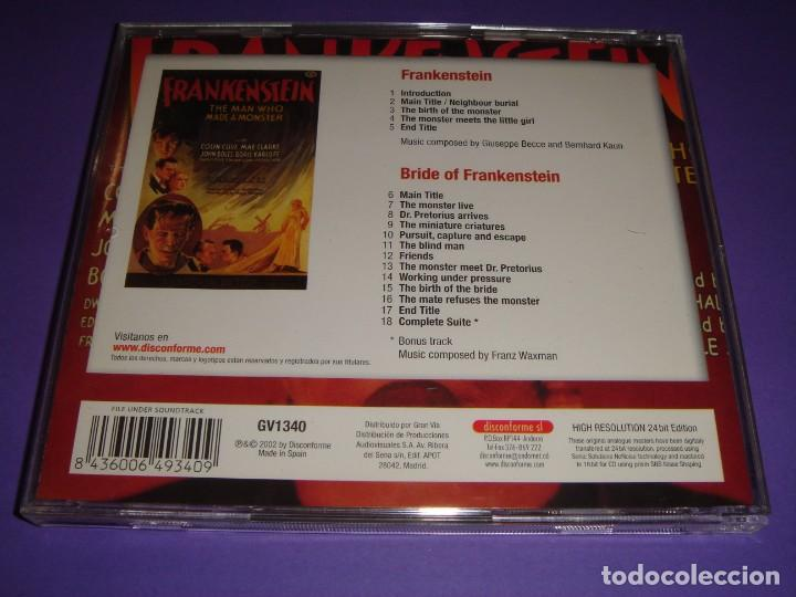 CDs de Música: FRANKENSTEIN / ORIGINAL SOUNDTRACK / BSO / BRIDE OF FRANKENSTEIN / FRANZ WAXMAN / CD - Foto 2 - 140975750