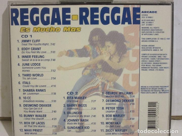 CDs de Música: Reggae-Reggae - Es Mucho Mas - 2 x CD - 1993 - Spain - EX+/EX+ - Foto 2 - 141037806