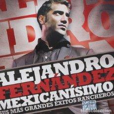 CDs de Música: ALEJANDRO FERNÁNDEZ - MEXICANÍSIMO (SUS MÁS GRANDES ÉXITOS RANCHEROS) - CD+DVD . Lote 141307282