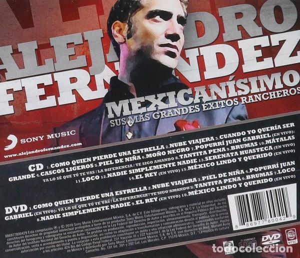 CDs de Música: Alejandro Fernández - Mexicanísimo (Sus Más Grandes Éxitos Rancheros) - CD+DVD - Foto 2 - 141307282