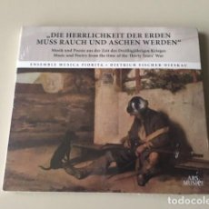 CDs de Música: VARIOS COMPOSITORES - MUSIC AND POETRY FROM THE TIME OF THE THIRTY YEARS' WAR (CD) FISCHER-DIESKAU. Lote 141311286