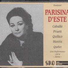 CDs de Música: PARISINA D'ESTE DOBLE CD DONIZETTI MONTSERRAT CABALLÉ NEW YORK 1974. Lote 141331158