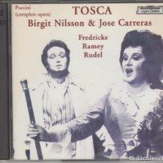 CDs de Música: TOSCA DOBLE CD BIRGIT NILSSON JOSÉ CARRERAS PUCCINI LIVE 1974 . Lote 141332378