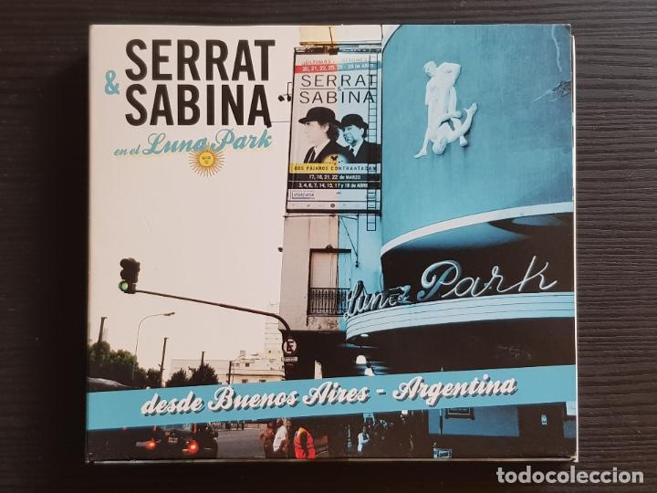 SERRAT & SABINA - EN EL LUNA PARK - CD ALBUM + DVD - SONY - 2012 (Música - CD's Rock)