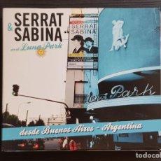 CDs de Música: SERRAT & SABINA - EN EL LUNA PARK - CD ALBUM + DVD - SONY - 2012. Lote 141442094