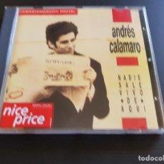 CDs de Música: ANDRÉS CALAMARO - NADIE SALE VIVO DE AQUÍ - CD ALBUM - SONY - 1989. Lote 141542862