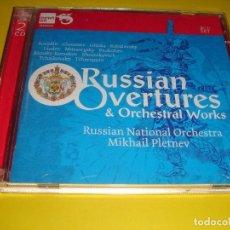 CDs de Música: RUSSIAN OVERTURES & ORCHESTRAL WORKS / GLINKA, BORODIN, SHOSTAKOVICH, ETC./ NEWTON CLASSICS 2 CD. Lote 141664842