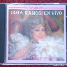 CDs de Música: OLGA RAMOS (EN VIVO - GRABADO EN VIVO EN LAS NOCHES DEL CUPLE) CD 1993. Lote 141710622