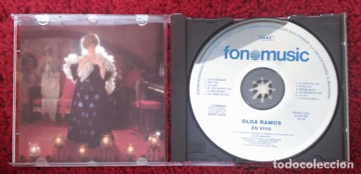 CDs de Música: OLGA RAMOS (EN VIVO - Grabado en Vivo en LAS NOCHES DEL CUPLE) CD 1993 - Foto 3 - 141710622