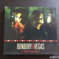 CDs de Música: BUNBURY & VEGAS - EL TIEMPO DE LA CEREZAS - DOBLE CD ALBUM - EMI - 2006 - HÉROES DEL SILENCIO. Lote 141729842