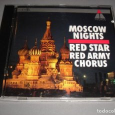 CDs de Música: RED STAR / RED ARMY CHORUS / MOSCOW NIGHTS / COROS DEL EJERCITO RUSO / TELDEC / CD. Lote 141789058