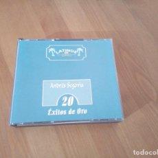 CDs de Música: 20 EXITOS DE ORO ANDRES SEGOVIA CD PLATINOS DE ORO. Lote 141790918