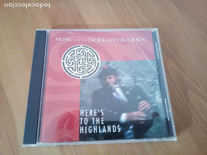 MUSIC FOR THE HIGHLAND BAGPIPE CD HERE'S FOR THE HIGHLANDS GAITA FOLK (Música - CD's Rock)