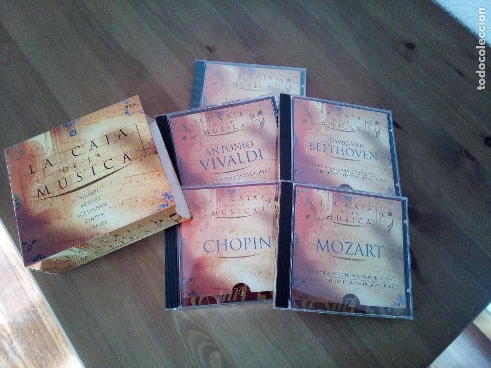 LA CAJA DE LA MUSICA 5 CD'S VIVALDI MOZART BEETHOVEN CHOPIN STRAUSS (Música - CD's Rock)