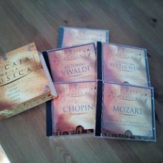 CDs de Música: LA CAJA DE LA MUSICA 5 CD'S VIVALDI MOZART BEETHOVEN CHOPIN STRAUSS. Lote 141792006
