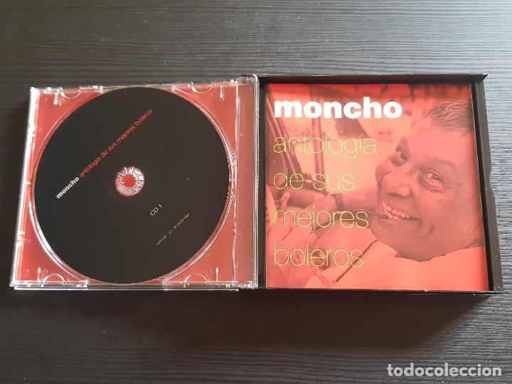 CDs de Música: MONCHO - ANTOLOGÍA DE SUS MEJORES BOLEROS - DOBLE CD ALBUM - BMASB - 2004 - Foto 3 - 141838002