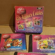 CDs de Música: ELS MILLORS CONTES / PACK - 3 CDS / EN TOTAL 12 CUENTOS / EN CALIDAD LUJO. / CATALÁN.. Lote 141876670