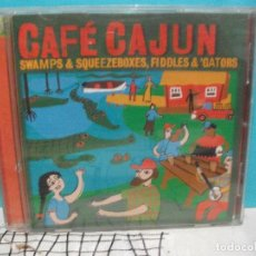 CDs de Música: CAFE CAJUN SWAPS & SQUEEZEBOXES , FIDDLES & GATORS CD ALBUM COMO NUEVO¡¡. Lote 141968338