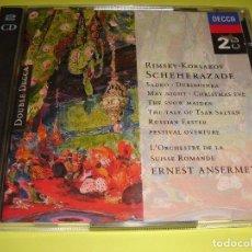 CDs de Música: NIKOLAI RIMSKY-KORSAKOV / OBRAS / SCHEHERAZADE / ERNEST ANSERMET / DOUBLE DECCA / 2 CD. Lote 142057846