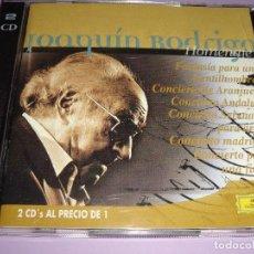 CDs de Música: JOAQUÍN RODRIGO / HOMENAJE / CONCIERTO DE ARANJUEZ, ETC./ DEUTSCHE GRAMMOPHON / 2 CD. Lote 142058618