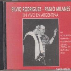 CDs de Música: SILVIO RODRÍGUEZ PABLO MILANÉS CD EN VIVO EN ARGENTINA 2000 EMI ARGENTINA. Lote 142085682