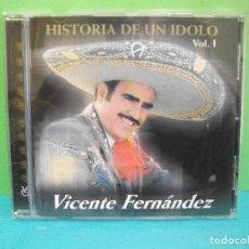 CDs de Música: VICENTE FERNANDEZ HISTORIA DE UN IDOLO VOL. I CD ALBUM AÑO 2002 AUSTRIA COMO NUEVO¡¡. Lote 142152178