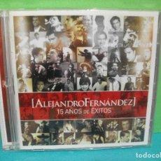CDs de Música: ALEJANDRO FERNANDEZ 15 AÑOS DE EXITOS CD + DVD ALBUM 2007 SONY COMO NUEVO¡¡. Lote 142153366