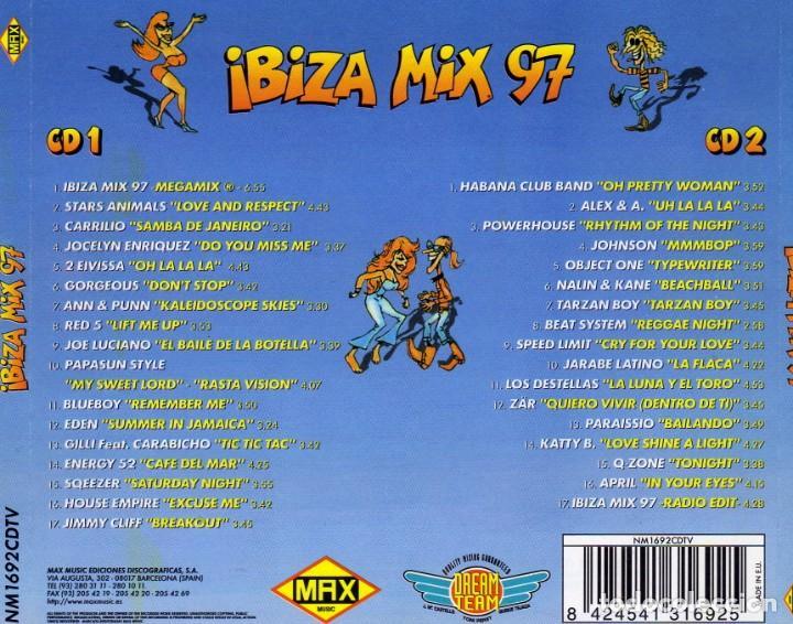 CDs de Música: IBIZA MIX 97 2 CDS (MAX MUSIC) - Foto 3 - 142195014