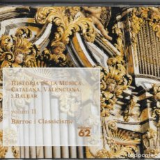 CDs de Música: == CD147 - HISTÒRIA DE LA MÚSICA CATALANA, VALENCIANA I BALEAR - VOL. II - BARROC I CASSICISME. Lote 142206422