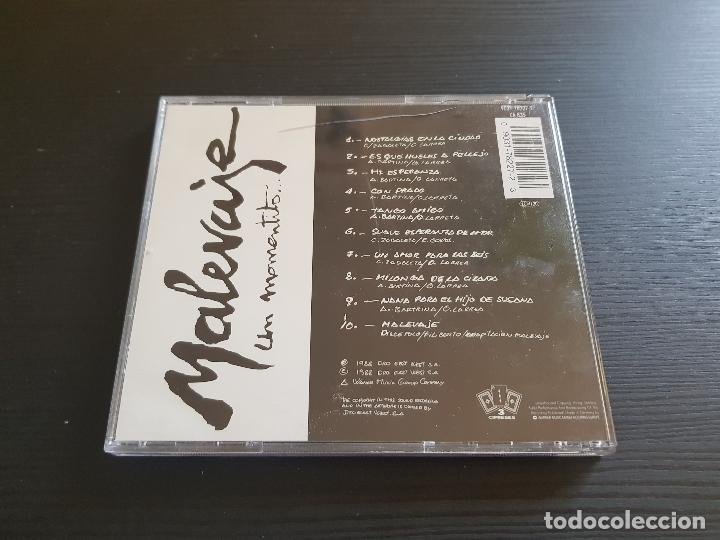 CDs de Música: MALEVAJE - UN MOMENTITO... - CD ALBUM - DRO - 1988 - Foto 2 - 142261430