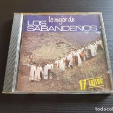 CDs de Música: LOS SABANDEÑOS - LO MÉJOR DE - CD ALBUM - BMG - 1998. Lote 142281358
