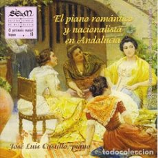 CDs de Música: JOSÉ LUIS CASTILLO – EL PIANO ROMÁNTICO Y NACIONALISTA EN ANDALUCÍA. Lote 142296686