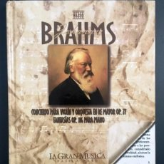 CDs de Música: BRAHMS - LIBRO CD. Lote 142337402