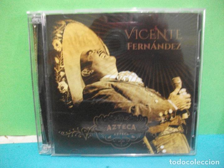 VICENTE FERNANDEZ AZTECA DOBLE CD + DVD ALBUM COMO NUEVO¡¡ (Música - CD's Latina)