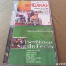 CDs de Música: LOTE SEVILLANAS DE FERIA. 2 CD. GRANDES EXITOS.. Lote 142407462