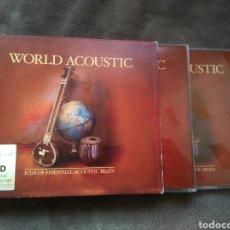 CDs de Música: 3 CDS WORLD ACOUSTIC - BAR DE LUNE - VARIOS. Lote 142407784