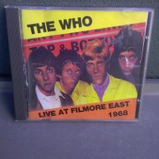 CDs de Música: THE WHO-CD SENCILLO-LIVE FILMORE EAST 1968-RARO DE ENCONTRAR-MUY BUENO. Lote 142527214