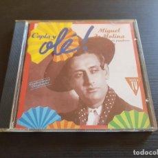 CDs de Música: MIGUEL DE MOLINA - COPLA Y OLÉ! - VOL. 2 - CD ALBUM - EMI - 1992. Lote 142618998