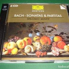 CDs de Música: J.S. BACH / SONATAS & PARTITAS / SHLOMO MINTZ / DEUTSCHE GRAMMOPHON / 2 CD. Lote 142642154