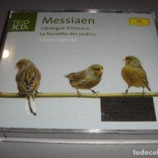 CDs de Música: OLIVIER MESSIAEN / CATALOGUE D'OISEAUX / CATALOGO DE PÁJAROS / ANATOL UGORSKI / 3 CD. Lote 142643486